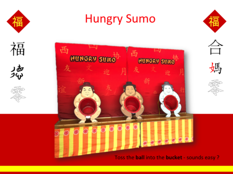 Hungry Sumo carnival game
